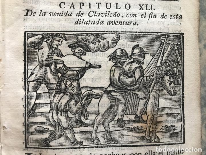 Libros antiguos: Vida y Hechos...don Quijote de la Mancha, tomo 4, 1765. M. de Cervantes/Manuel Martin. Xilografías. - Foto 10 - 214624825