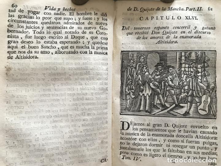 Libros antiguos: Vida y Hechos...don Quijote de la Mancha, tomo 4, 1765. M. de Cervantes/Manuel Martin. Xilografías. - Foto 11 - 214624825