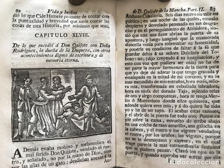 Libros antiguos: Vida y Hechos...don Quijote de la Mancha, tomo 4, 1765. M. de Cervantes/Manuel Martin. Xilografías. - Foto 13 - 214624825