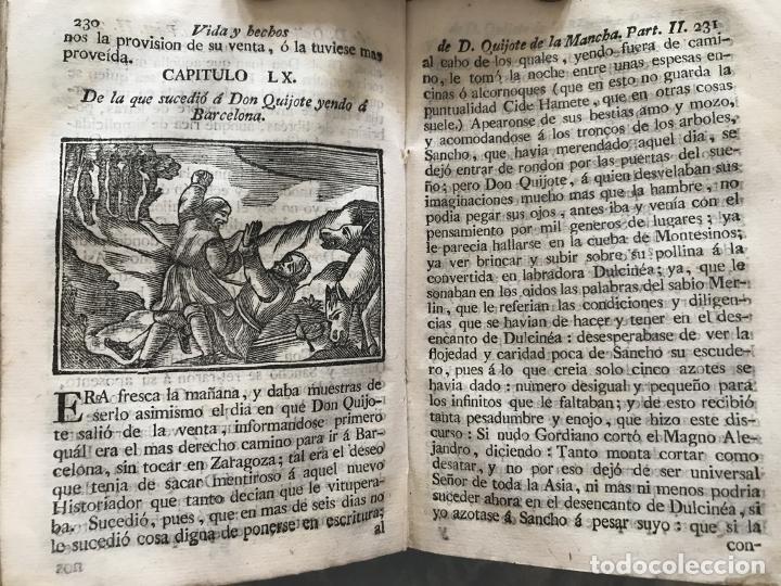 Libros antiguos: Vida y Hechos...don Quijote de la Mancha, tomo 4, 1765. M. de Cervantes/Manuel Martin. Xilografías. - Foto 17 - 214624825
