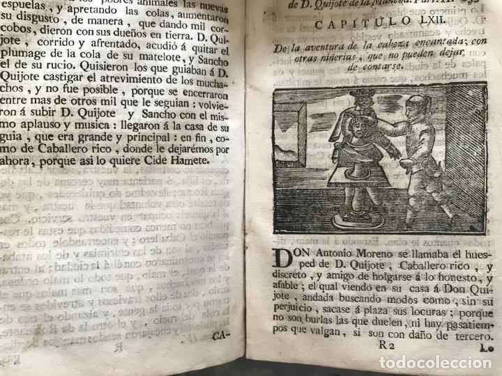 Libros antiguos: Vida y Hechos...don Quijote de la Mancha, tomo 4, 1765. M. de Cervantes/Manuel Martin. Xilografías. - Foto 19 - 214624825