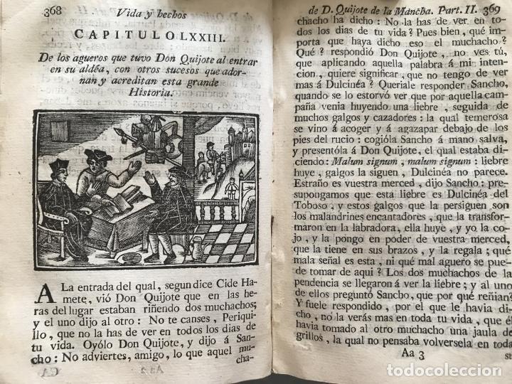 Libros antiguos: Vida y Hechos...don Quijote de la Mancha, tomo 4, 1765. M. de Cervantes/Manuel Martin. Xilografías. - Foto 23 - 214624825