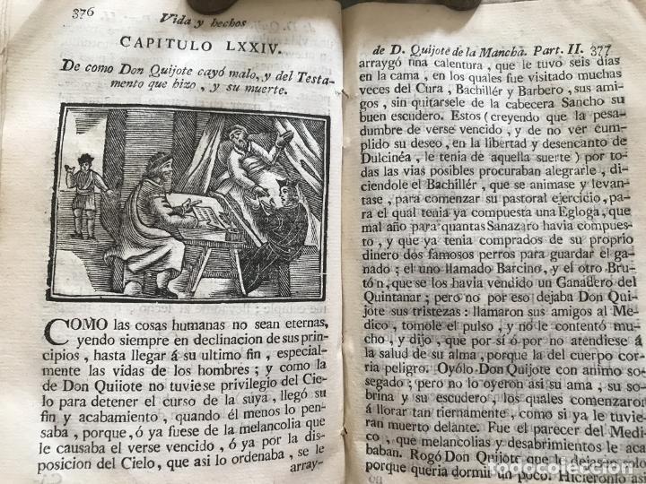 Libros antiguos: Vida y Hechos...don Quijote de la Mancha, tomo 4, 1765. M. de Cervantes/Manuel Martin. Xilografías. - Foto 24 - 214624825