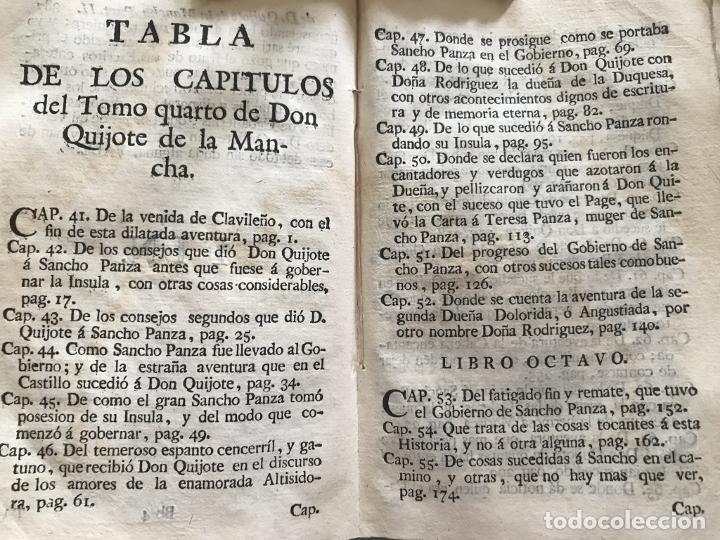 Libros antiguos: Vida y Hechos...don Quijote de la Mancha, tomo 4, 1765. M. de Cervantes/Manuel Martin. Xilografías. - Foto 27 - 214624825