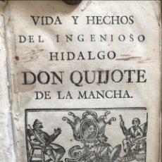 Libros antiguos: VIDA Y HECHOS...DON QUIJOTE DE LA MANCHA, TOMO 4, 1765. M. DE CERVANTES/MANUEL MARTIN. XILOGRAFÍAS.. Lote 214624825