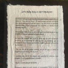 Livros antigos: LA CREU DELS SET BRAÇOS. PIEZA DE BIBLIÓFILO. CANILLO. ANDORRA. Lote 214661307