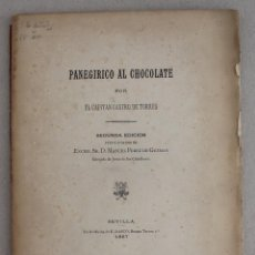 Libros antiguos: PANEGYRIC ABOUT CHOCOLATE ONLY PRINTED 80 COPIES. Lote 214647050