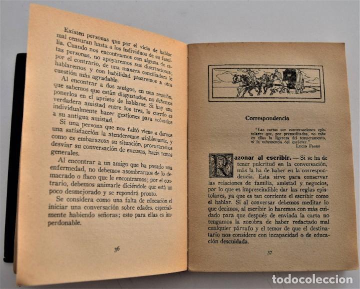 Libros antiguos: TRATADO PRÁCTICO DE ETIQUETA Y DISTINCIÓN SOCIAL - J. SÁNCHEZ MORENO - EDITORIAL CULTURA, AÑO 1928 - Foto 4 - 214807621