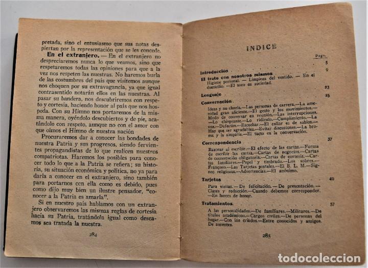 Libros antiguos: TRATADO PRÁCTICO DE ETIQUETA Y DISTINCIÓN SOCIAL - J. SÁNCHEZ MORENO - EDITORIAL CULTURA, AÑO 1928 - Foto 5 - 214807621
