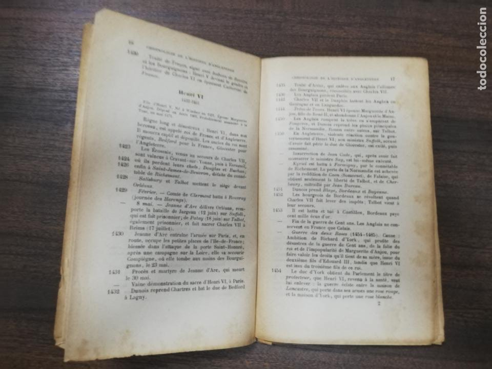 Libros antiguos: CHRONOLOGIE DE L´HISTOIRE D´ANGLETERRE. IMPRIMERIE A. MAME ET FILS. TOURS 1900. - Foto 5 - 214889713