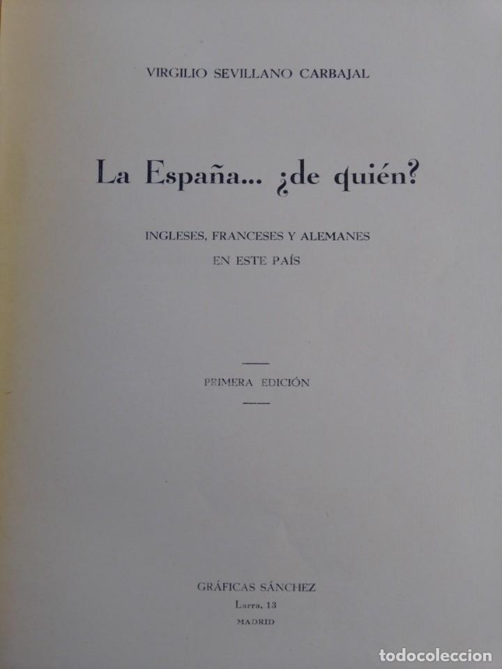 Libros antiguos: La España de quién? Libro editado en 1936 - Foto 6 - 214914725