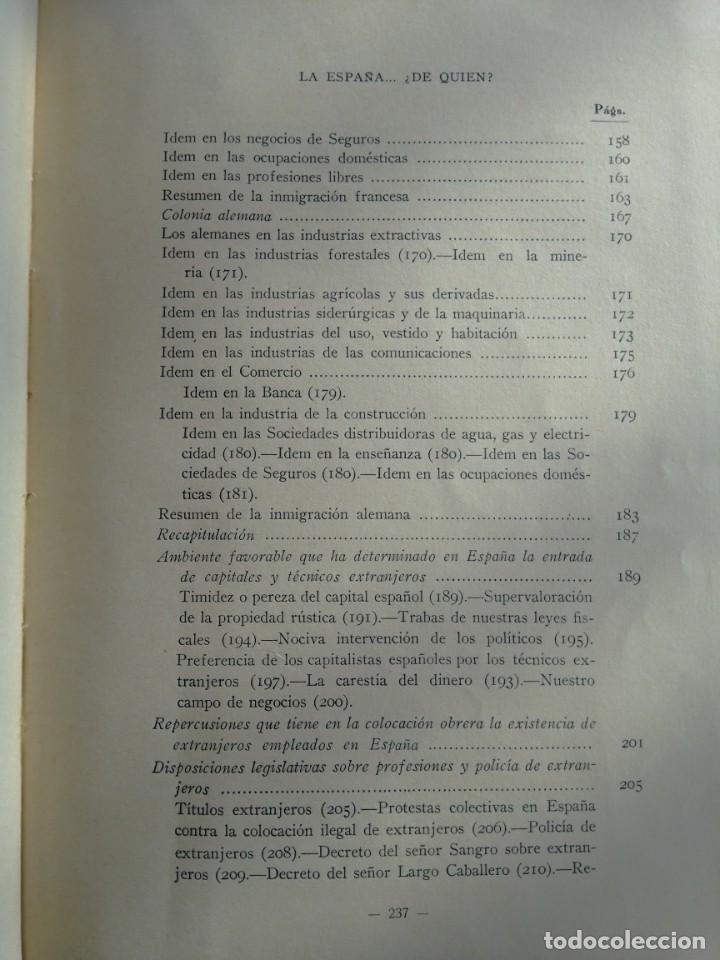 Libros antiguos: La España de quién? Libro editado en 1936 - Foto 10 - 214914725
