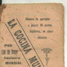 Livres anciens: 4060.- COCINA-GASTRONOMIA-LA COCINA MUNDIAL POR LLOT DE DROPE COCINERO MUNDIAL. Lote 214921506