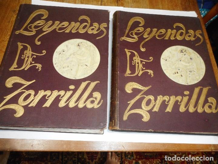 JOSÉ ZORRILLA LEYENDAS DE D. JOSÉ ZORRILLA ( 2 TOMOS) Q2324T (Libros Antiguos, Raros y Curiosos - Literatura - Otros)