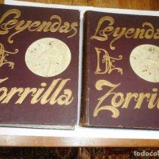 Libros antiguos: JOSÉ ZORRILLA LEYENDAS DE D. JOSÉ ZORRILLA ( 2 TOMOS) Q2324T. Lote 214962483