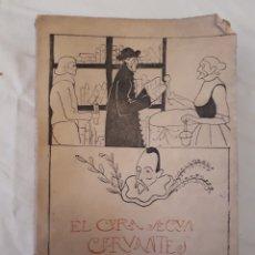 Libros antiguos: EL CURA SEGÚN CERVANTES, LUIS MINER. VITORIA 1916. CON DEDICATORIA DEL AUTOR.. Lote 215386681