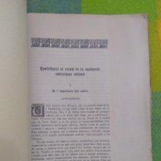 Libros antiguos: 1928. CONTRIBUCIÓ AL ESTUDI DE LA MOLINERIA VALENCIANA MIJEVAL.. Lote 215440161