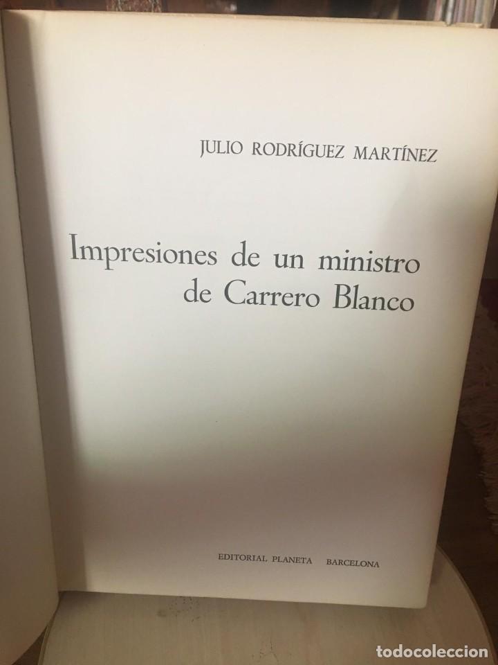 IMPRESIONES DE CARRERO BLANCO (Libros Antiguos, Raros y Curiosos - Historia - Otros)