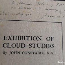 Libros antiguos: CONSTABLE'S CLODSCAPES BY FRANK RUTTER DEDICADO A JOAQUIM FOLCH I TORRES ESTADO:--. Lote 215761100