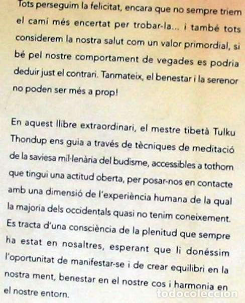 Libros antiguos: PLENITUD - EXERCICIS DE MEDITACIO - TULKU THONDUP - ED. HELIOS / VIENA 2003 - VER INDICE - Foto 2 - 216003150