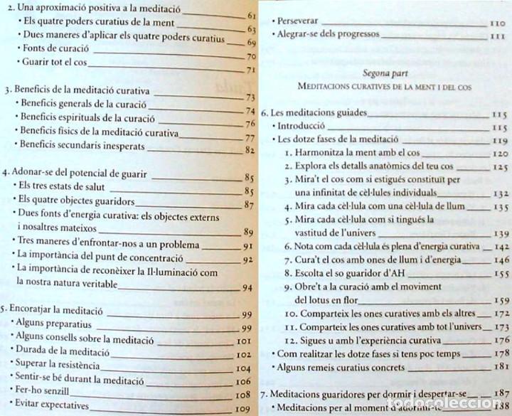 Libros antiguos: PLENITUD - EXERCICIS DE MEDITACIO - TULKU THONDUP - ED. HELIOS / VIENA 2003 - VER INDICE - Foto 4 - 216003150