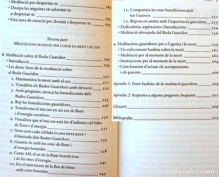 Libros antiguos: PLENITUD - EXERCICIS DE MEDITACIO - TULKU THONDUP - ED. HELIOS / VIENA 2003 - VER INDICE - Foto 5 - 216003150