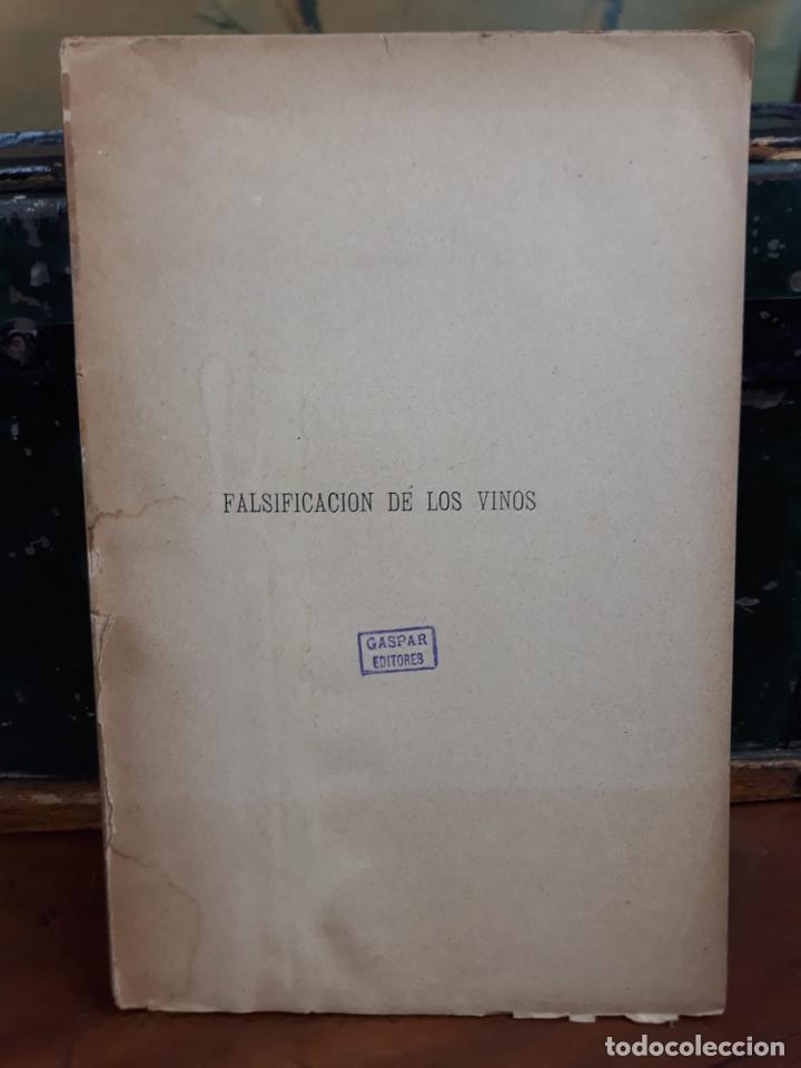 Libros antiguos: TRATADO FALSIFICACION DE VINOS - Foto 2 - 216014548