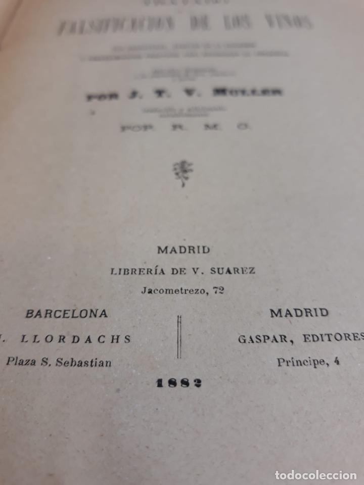 Libros antiguos: TRATADO FALSIFICACION DE VINOS - Foto 4 - 216014548