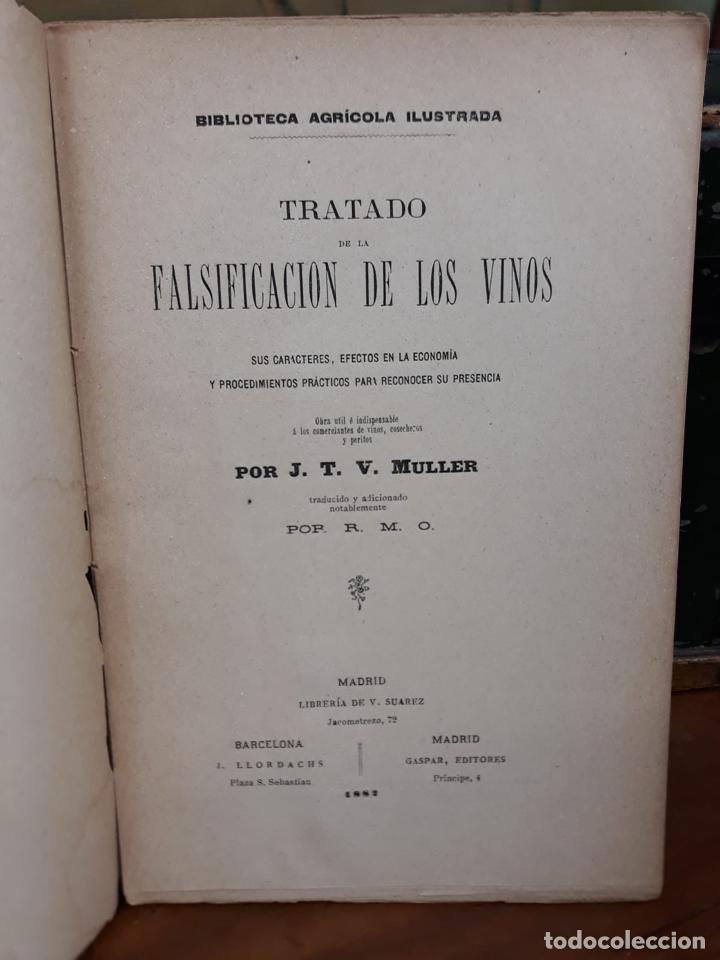 TRATADO FALSIFICACION DE VINOS (Libros Antiguos, Raros y Curiosos - Cocina y Gastronomía)