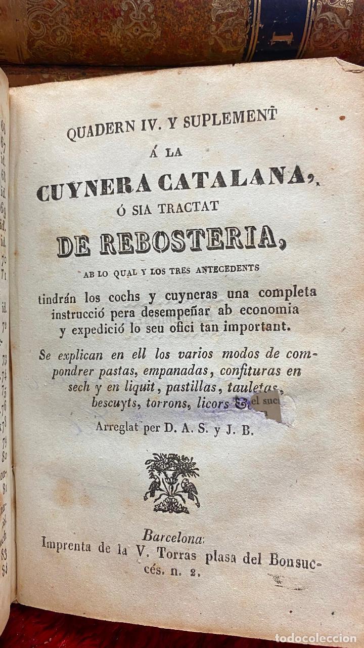 Libros antiguos: Libro cocina la cuynera catalana - la cuinera catalana La cocinera catalana - 4 cuadernos 1851 - Foto 4 - 216619165