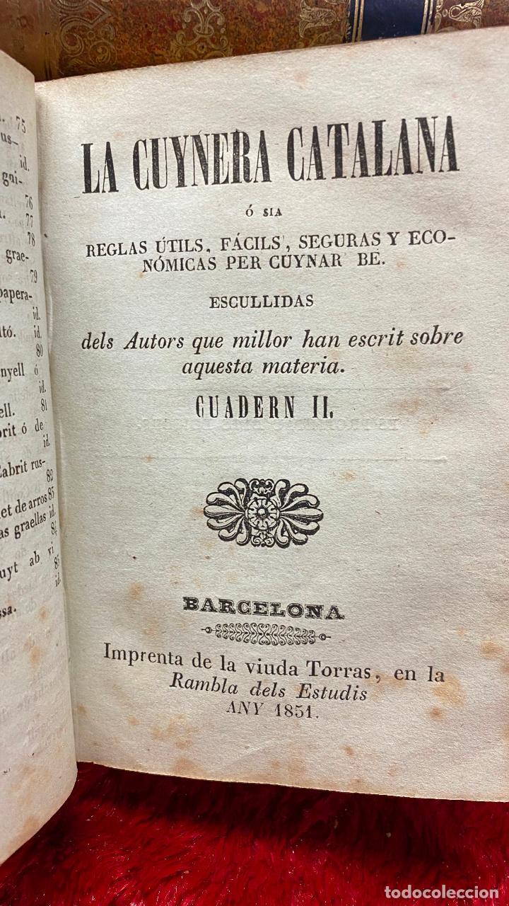 Libros antiguos: Libro cocina la cuynera catalana - la cuinera catalana La cocinera catalana - 4 cuadernos 1851 - Foto 7 - 216619165
