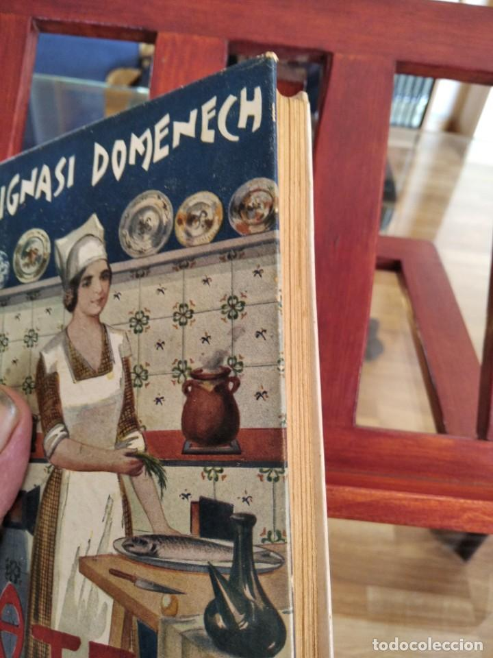 Libros antiguos: LA TECA-LA VERITABLE CUINA CASOLANA DE CATALUNYA-IGNASI DOMENECH-TIPOGRAFIA BONET-EXCELENTE - Foto 6 - 216978276