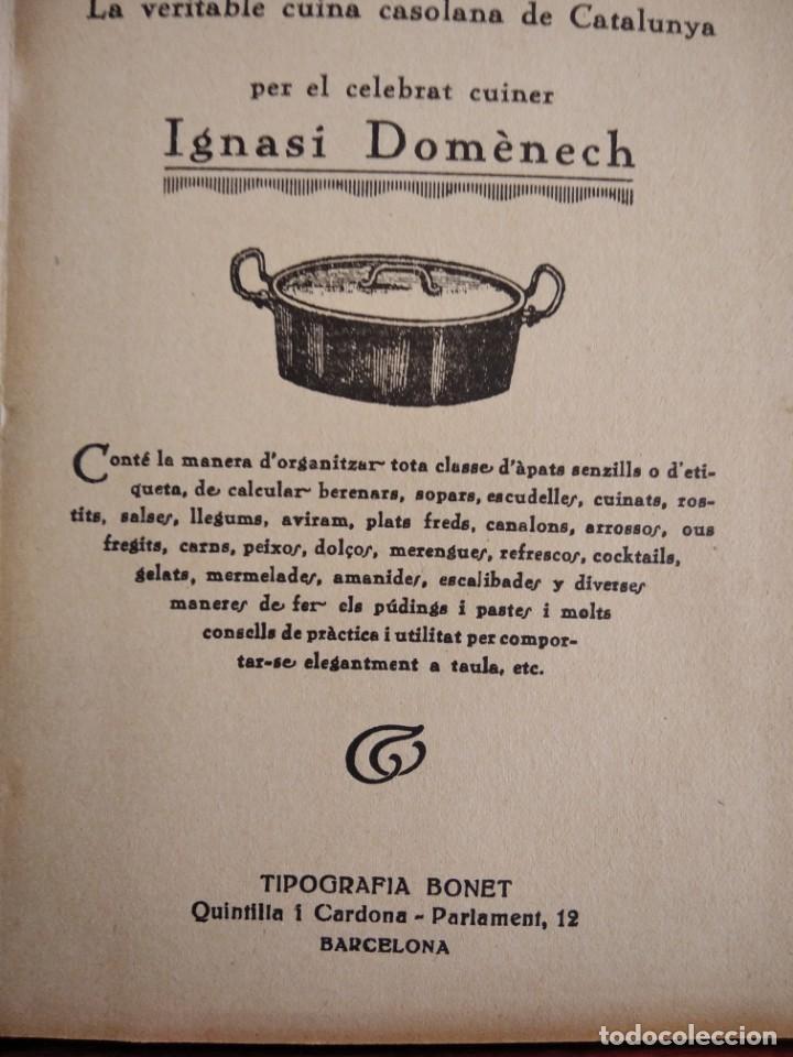 Libros antiguos: LA TECA-LA VERITABLE CUINA CASOLANA DE CATALUNYA-IGNASI DOMENECH-TIPOGRAFIA BONET-EXCELENTE - Foto 14 - 216978276