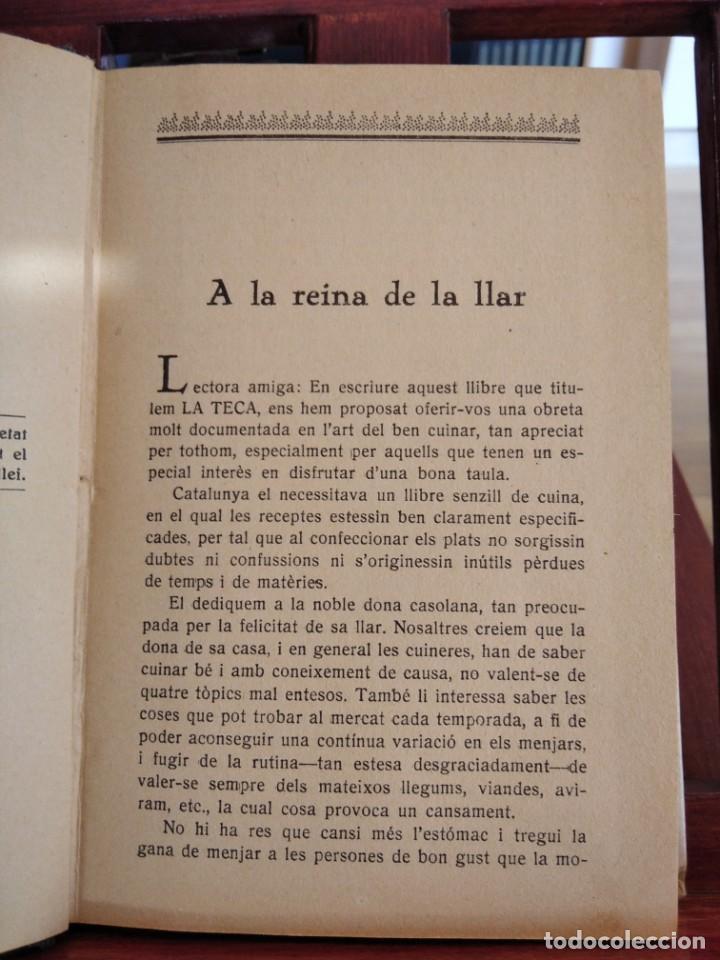 Libros antiguos: LA TECA-LA VERITABLE CUINA CASOLANA DE CATALUNYA-IGNASI DOMENECH-TIPOGRAFIA BONET-EXCELENTE - Foto 16 - 216978276