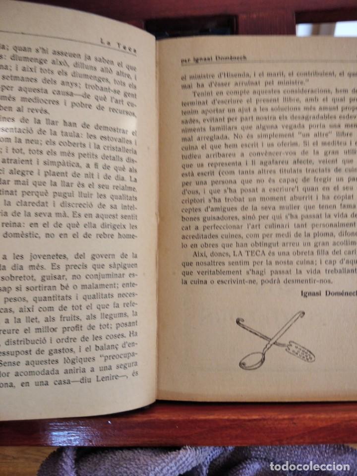 Libros antiguos: LA TECA-LA VERITABLE CUINA CASOLANA DE CATALUNYA-IGNASI DOMENECH-TIPOGRAFIA BONET-EXCELENTE - Foto 17 - 216978276