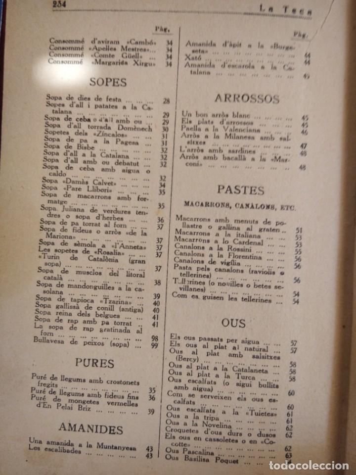 Libros antiguos: LA TECA-LA VERITABLE CUINA CASOLANA DE CATALUNYA-IGNASI DOMENECH-TIPOGRAFIA BONET-EXCELENTE - Foto 28 - 216978276