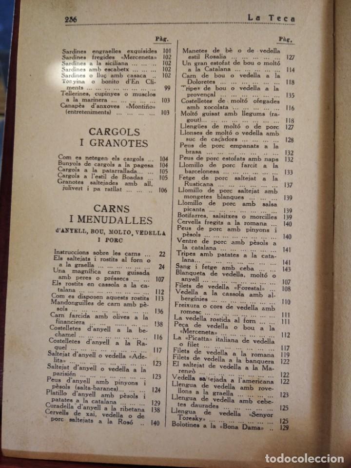 Libros antiguos: LA TECA-LA VERITABLE CUINA CASOLANA DE CATALUNYA-IGNASI DOMENECH-TIPOGRAFIA BONET-EXCELENTE - Foto 30 - 216978276