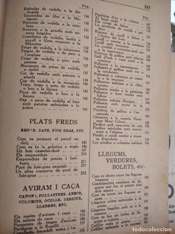Libros antiguos: LA TECA-LA VERITABLE CUINA CASOLANA DE CATALUNYA-IGNASI DOMENECH-TIPOGRAFIA BONET-EXCELENTE - Foto 31 - 216978276