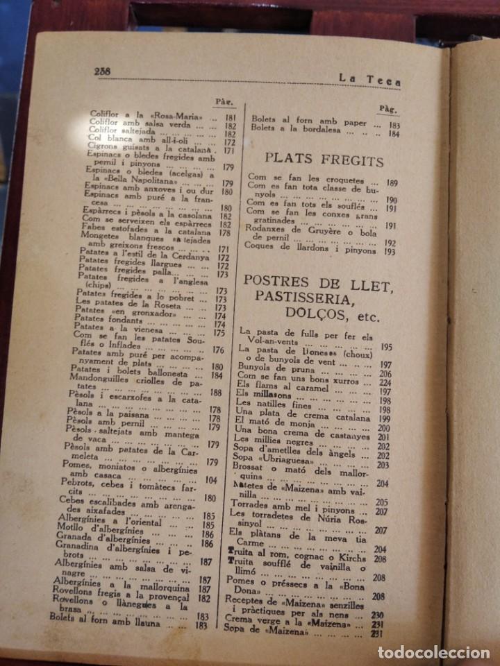 Libros antiguos: LA TECA-LA VERITABLE CUINA CASOLANA DE CATALUNYA-IGNASI DOMENECH-TIPOGRAFIA BONET-EXCELENTE - Foto 32 - 216978276