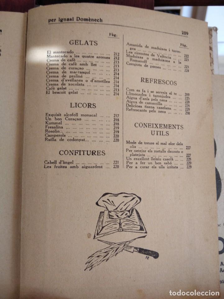 Libros antiguos: LA TECA-LA VERITABLE CUINA CASOLANA DE CATALUNYA-IGNASI DOMENECH-TIPOGRAFIA BONET-EXCELENTE - Foto 33 - 216978276