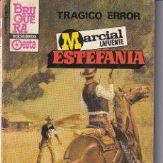 Livros antigos: NOVELA DE ESTEFANIA EDICIÓN B, BOLSILIBROS OESTE TÍTULO TRAGICO ERROR Nº595. Lote 217120406