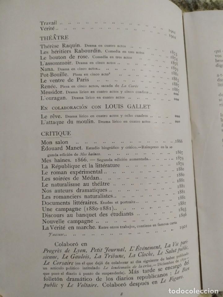 Libros antiguos: 1903. Conferencias Zola. - Foto 6 - 217254020