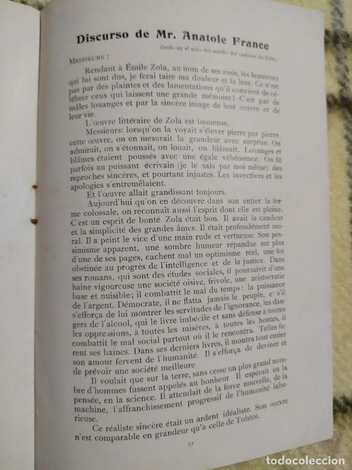 Libros antiguos: 1903. Conferencias Zola. - Foto 8 - 217254020