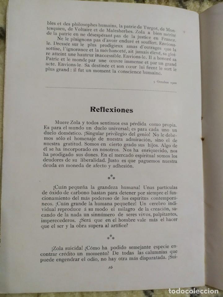 Libros antiguos: 1903. Conferencias Zola. - Foto 9 - 217254020