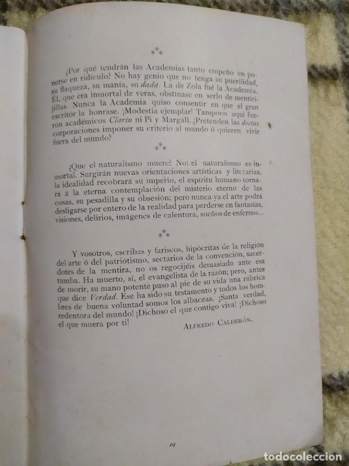Libros antiguos: 1903. Conferencias Zola. - Foto 10 - 217254020