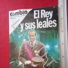 Livros antigos: CAMBIO 16 EL REY Y SUS LEALES 484 9 MARZO 1981 EL GOLPE FAM7. Lote 217257055