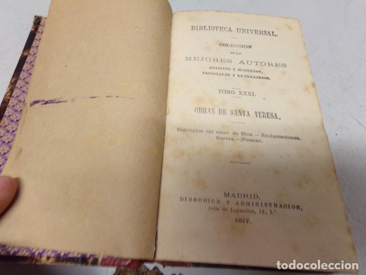 Libros antiguos: biblioteca universal 1881 - mejores autores , Santa Teresa , conceptos del amor de Dios - Foto 2 - 217413666