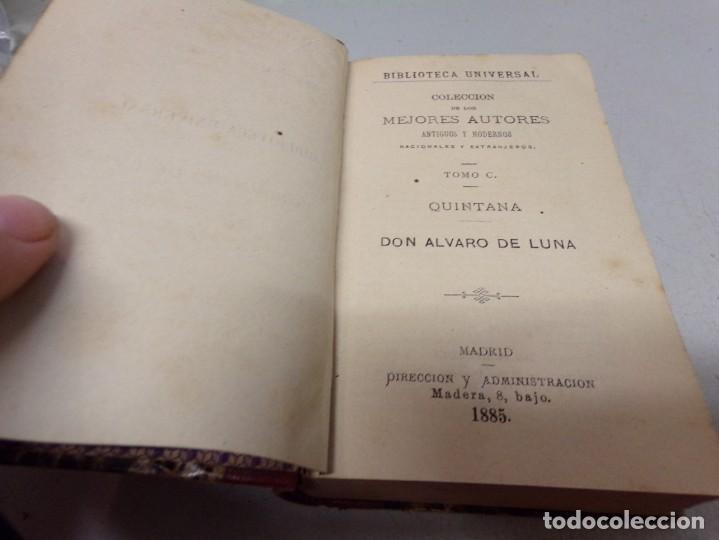 Libros antiguos: biblioteca universal 1881 - mejores autores , Quintana , Don Alvaro de Luna - Foto 2 - 217415200