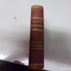 Libri antichi: BIBLIOTECA UNIVERSAL 1881 - MEJORES AUTORES , WERTHER DE GOETHE. Lote 217418588