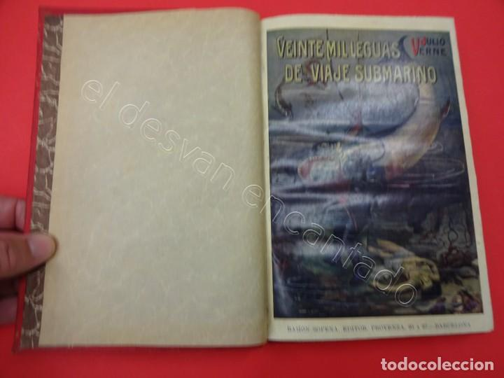 Libros antiguos: VEINTE MIL LEGUAS DE VIAJE SUBMARINO. Julio Verne. SOPENA - Foto 2 - 217477942